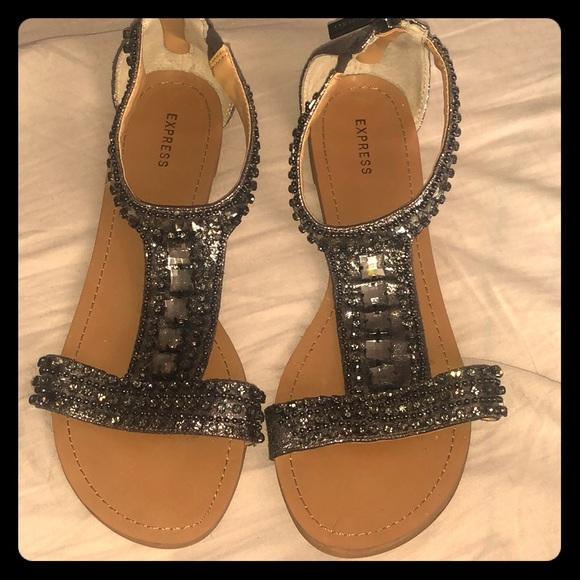 Shoes   Dressy Flat Sandals   Poshmark